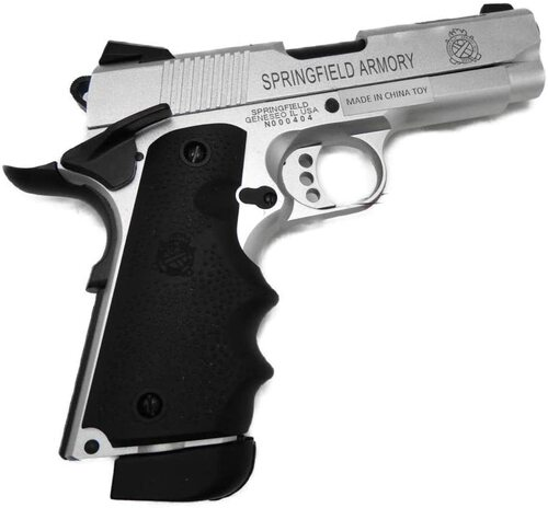 Double Bell V10 Ultra Compact CO2 Airsoft GBB gun Springfield Armory (dbv10co2) Silver