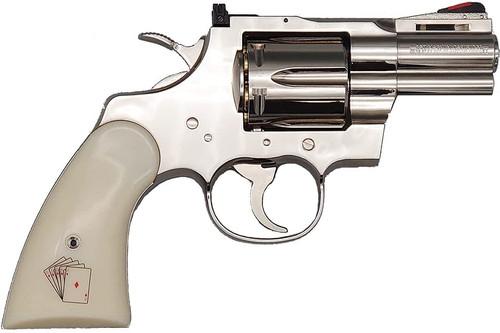 Tanaka Colt Python .357 Magnum Snake Eyes 2.5inch Earl Model Nickel Finish Model Gun Finished Product