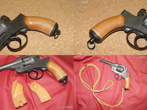 Hartford Type 26 Revolver Blue Black Model Wooden Grip Heavy Weight Ignition Model Gun Finished Product