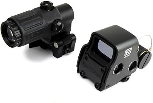 NB EoTech set of EXPS3 Holosight type replica dot sight and G33-STS type magnifier (booster)NEW marking ver black