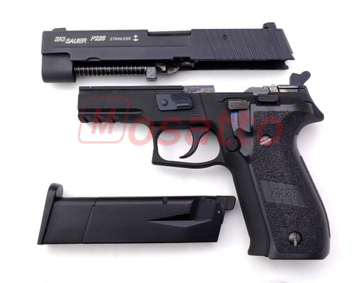 Muzzle left of WE SIG SAUER P 226 NAVY Mk 25 MODEL TEAM 6 CNC Engraved Model Shields Marking Airsoft Gun
