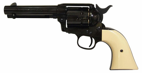 Muzzle left of Marushin Colt S.A.A. 45 Peacemaker W Deep black ABS X cartridge (with fixed hop and new valve) Gas revolver Airsoft Gun