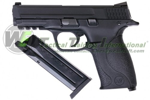 We-Tech M & P [Metal Slide Version] BK Gas Blow back Airsoft Gun and Magazine
