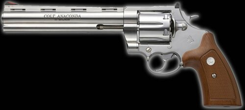 Muzzle left of Colt Anaconda 8 inch silver ABS 6 mm BB bullet X cartridge 05725 Gas revolver Airsoft Gun