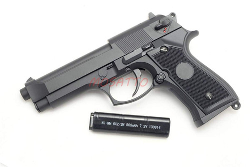 Muzzle left of CYMA Beretta M92F type Semi-full auto HOP-UP Electric Airsoft handgun