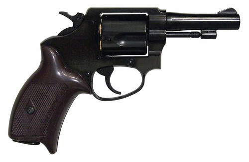 Muzzle right of Marushin 3 inch Double Deep Black Copper Head Cart Specifications Police Gas Revolver Airsoft Gun