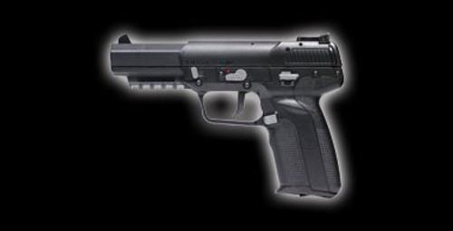 Muzzle left of Marushin FN 5 - 7 BK 6mm CO2 gas Airsoft Gun
