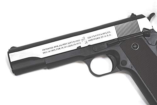 Engrave of BELL M1911A1 Colt Government Silver No. 723L GBB Airsoft Gun