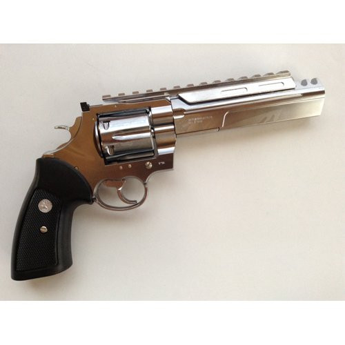 Muzzle right of Marushin Colt ABS silver 6mm unlimited Gas revolver Airsoft Gun