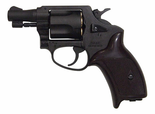 Muzzle left of Marushin Police Revolver 2 inch Black HW Copperhead Cart Specifications Airsoft Gun