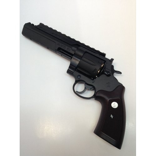 Muzzle left of Marushin Colt unlimited revolver X cart specification 6mm HW black Gas revolver Airsoft Gun