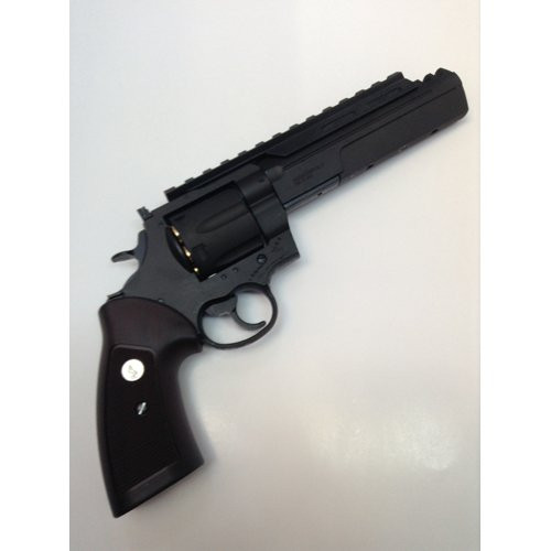 Muzzle right of Marushin Colt unlimited revolver X cart specification 6mm HW black Gas revolver Airsoft Gun