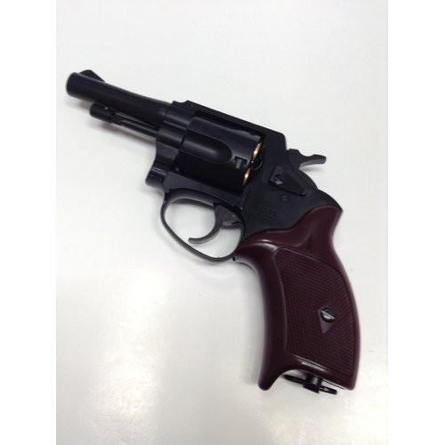 Muzzle left of Marushin Police revolver 3 inch X cart specification HW black 6mm Gas revolver Airsoft Gun