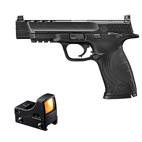 Muzzle left of Tokyo Marui S & W M & P 9L PC Ported GBB Airsoft Gun & Micro pro sight