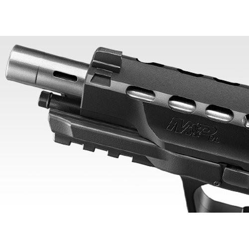 Muzzle of Tokyo Marui S & W M & P 9L PC Ported GBB Airsoft Gun & Micro pro sight