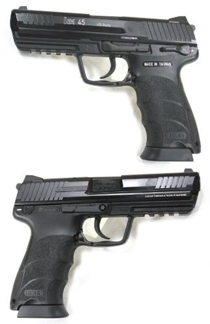 Left and right side of UMAREX H & K 45 System 7 Metal Slide Version GBB Airsoft Gun