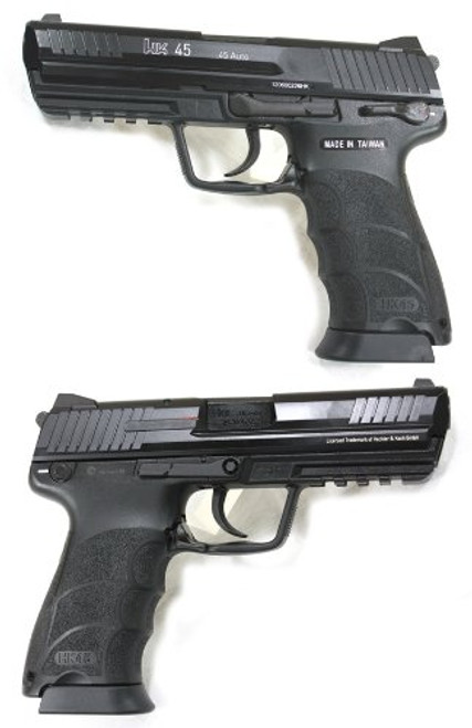 Left and right side of UMAREX H & K 45 System 7 Metal Slide Version GBB Airsoft Gun
