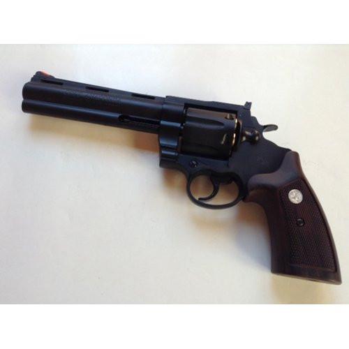 Muzzle left of Colt Anaconda X Cart Specification HW Black 6 inch 6 mm Gas Revolver Airsoft Gun