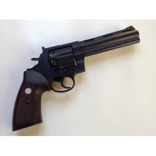 Muzzle right of Colt Anaconda X Cart Specification HW Black 6 inch 6 mm Gas Revolver Airsoft Gun