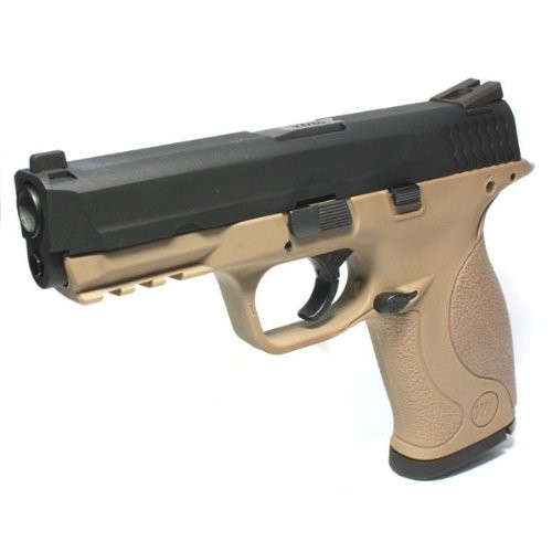 Muzzle left of We-Tech M & P TAN Metal Slide Version Gas Blow back Airsoft Gun