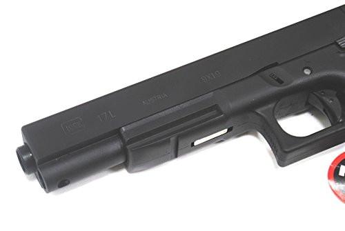 Muzzle of BELL Glock G17L metal slide long real engrave GBB Gun