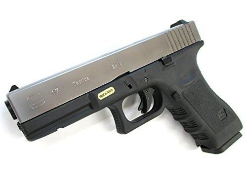 We-Tech Glock 17 Gen 3 Metal Silver slide GBB Airsoft Gun