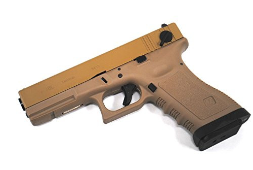Muzzle left of WE-Tech G18C Glock TAN GBB Airsoft Gun