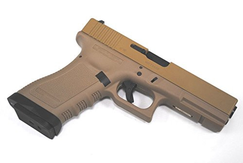Muzzle right of WE-Tech G18C Glock TAN GBB Airsoft Gun