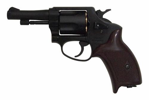 Muzzle left of Marushin Black ABS Copper Head Cart Police 3 inch Gas Revolver Airsoft Gun