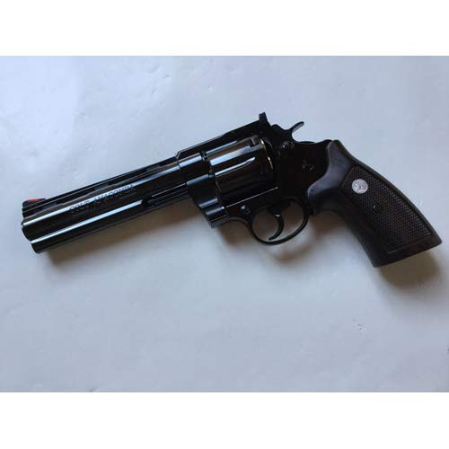 Muzzle left of Marushin Colt Anaconda 6 inch Deep Black Real X Cart Specification Gas revolver Airsoft Gun