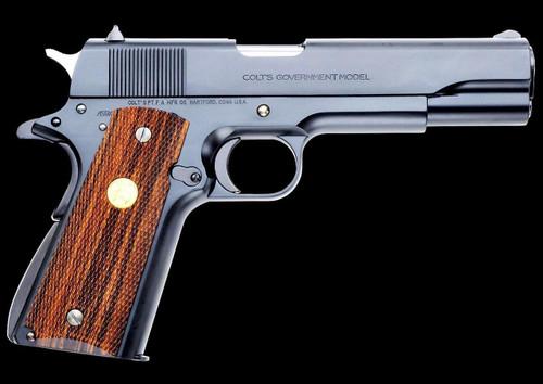 Muzzle right of WA Super Real Gun Colt Mk IV Series 70 Black Airsoft gun
