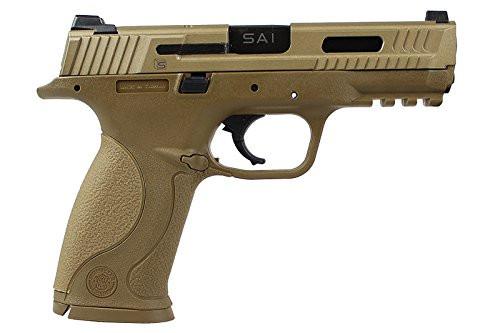 Muzzle right of EMG M&P9 SAI Tan color Custom Ver. GBB Airsoft gun