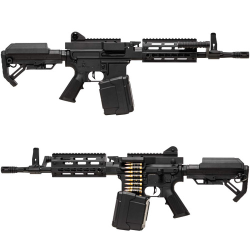Muzzle right and left of Golden Eagle FightLite 12.5 inch MCR GE6671 Airsoft electric sub machine gun