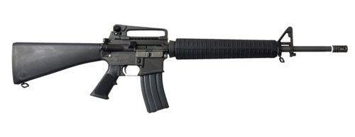 Muzzle right of WE-TECH M16-A3 GBB Airsoft rifle gun