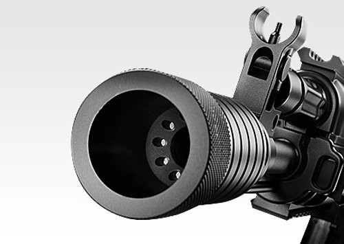 Muzzle of Tokyo Marui AK102 next generation Airsoft electric rifle gun