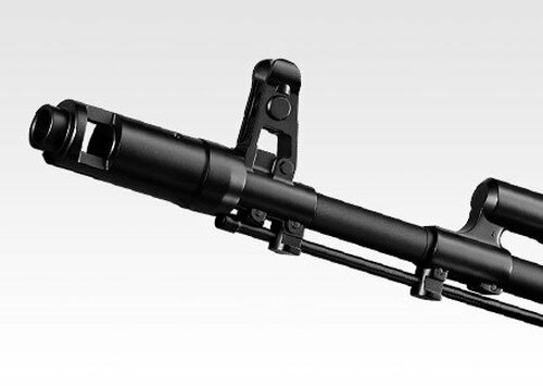 Muzzle of Tokyo Marui AK74MN next generation Airsoft electric rifle gun