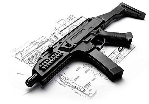 Left side of ASG CZ EVO SCORPION electric rifle gun