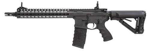 Muzzle left of G&G ARMAMENT CM16 SRXL Black Airsoft electric rifle gun