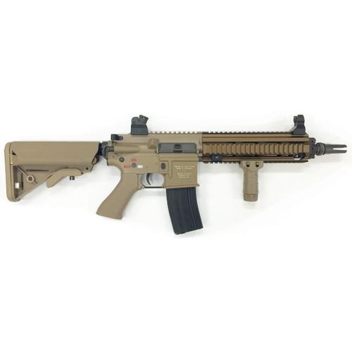 Muzzle right of Bolt AirSoft HK416D Devgru B.R.S.S. TAN color Recoil Shock Airsoft Electric rifle Gun