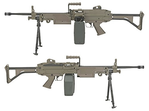 Left and right side of A&K M249 MK1 Full Metal Airsoft Electric rifle Gun
