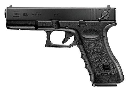 Muzzle left of Tokyo Marui Glock 18C Airsoft electric handgun