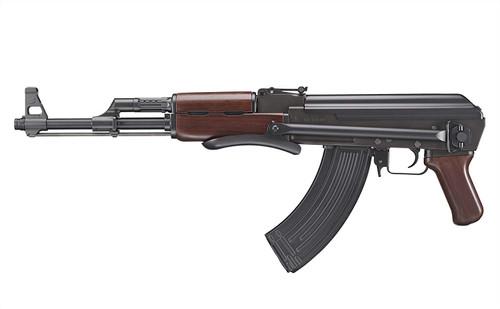 Left side of Tokyo Marui AKS 47 Next generation Airsoft electric rifle gun