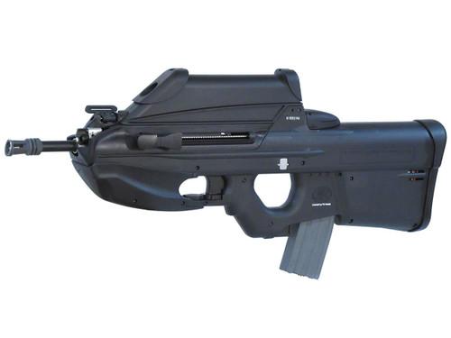 Muzzle left of G&G ARMAMENT FN F2000 black Airsoft electric rifle gun