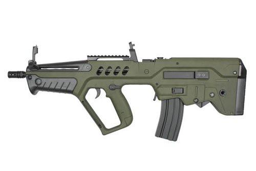 Muzzle left of S&T TAVOR 21 Explorer Ver. OD Airsoft electric rifle gun