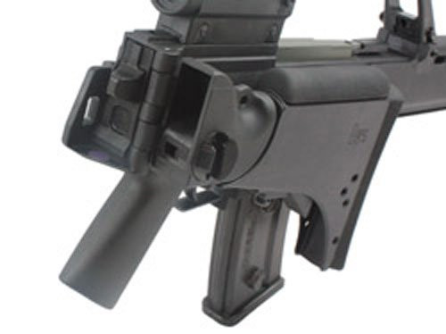 Back of S&T G36V black Airsoft electric blow back rifle gun