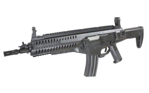 Muzzle left of S&T ARX160 SportLine black Airsoft electric AEG rifle gun