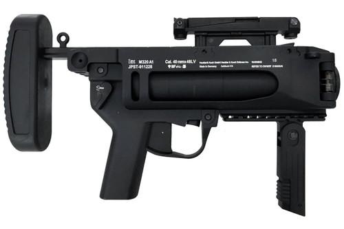 Muzzle right of S&T M320A1 grenade black Airsoft launcher pistol gun