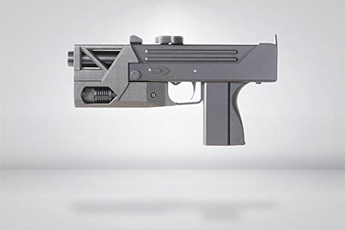 Muzzle left of HFC BLADE M11 light module type L1 GBB Airsoft sub machine gun