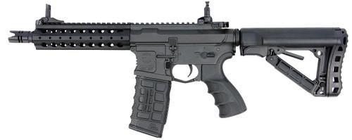 Muzzle left of G&G ARMAMENT CM16 FFR A2 black Airsoft Electric rifle gun