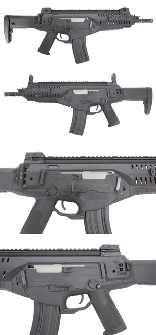 Left and right side of S&T Beretta ARX 160 CQB black Airsoft electric blowback gun
